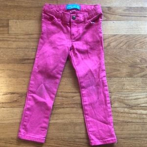 Bubble gum pink skinny jeans
